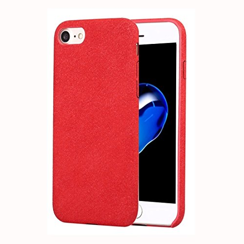 Hülle Für iPhone 7 Ultra Fiber + PC Protective zurück Fall Mode Telefon Fall Handyhülle (Farbe : Rot)