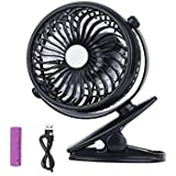Battery Operated Fan Mini Usb Clip Portable Fan Powered By Rechargeable Battery For Baby Stroller Car Gym Workout Camping