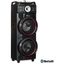 NGS WILDTECHNO 500W Negro, Azul, Rojo altavoz - Altavoces (2.0 canales, Alámbrico/Inalámbrico, USB/Bluetooth, 500 W, Negro, Azul, Rojo)