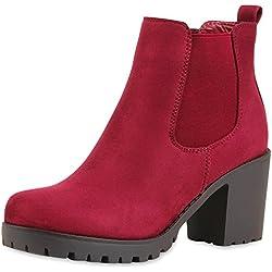 best-boots Botines para mujer, color rojo, talla 41 EU