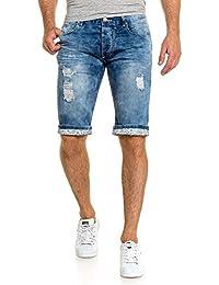 BLZ jeans - Bermuda short tendance bleu en jean délavé