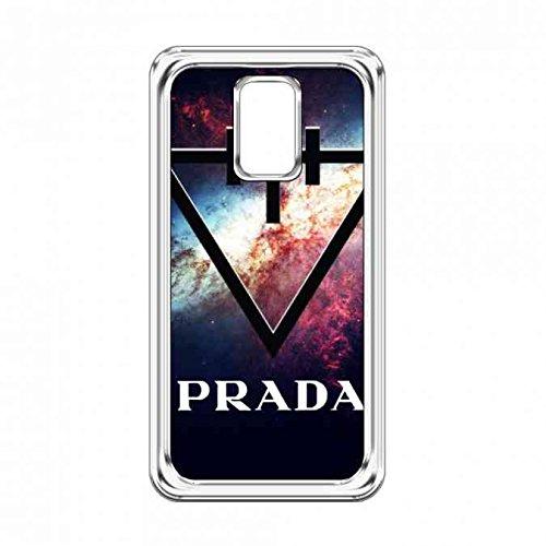 Prada Logo Carcasa Funda, Plastico Transparente Samsung Galaxy S5 Prada Funda,Marca Logo Prada Funda,Prada Clear Samsung S5 Carcasa Funda