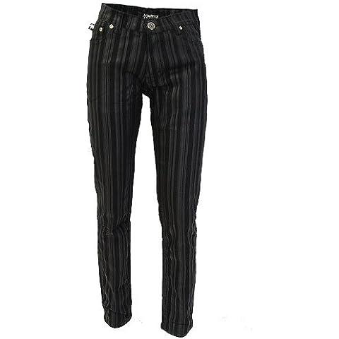 IDE Jeans Skinny Pin Stripe colore Nero grigio