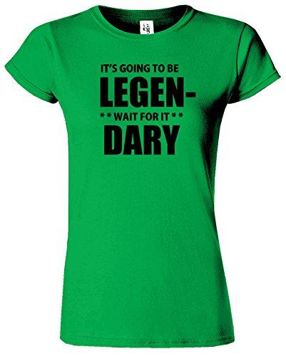 Legan Dary Frauen-T-Shirt Wie ich Ihre Mutter traf Irish Grün / Schwarz Design
