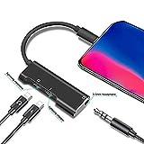Asoon Phone Adapter für Phone 7/8/x Dual mit 3,5mm Kopfhöreranschluss 3 in 1 Adapter