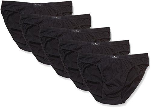 Tom Tailor Underwear Herren Slip Mini, 5er Pack, Einfarbig, Gr. X-Large (Herstellergröße: XL/7), Schwarz (black 9000)