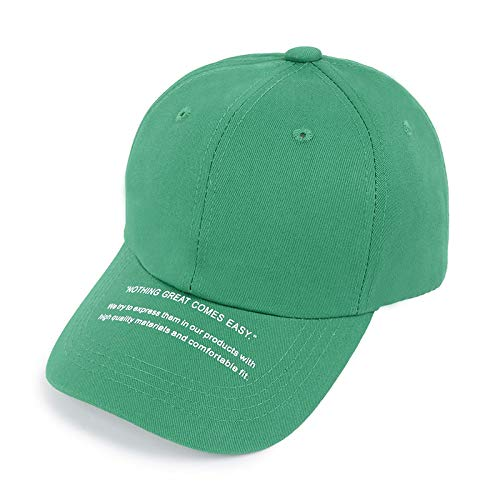 LINSID HUT-Mode Baseballmütze Unisex Schöne Kappen Frauen Männer Hysteresenkappe Papa Hut Sommer Einstellbare Gorras grün