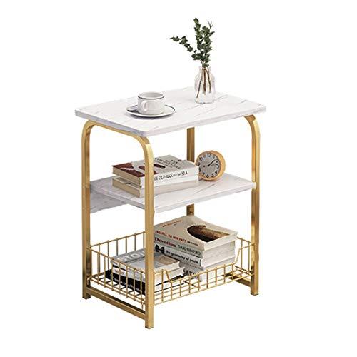 Axdwfd Beistelltisch Trapezförmige Metall Beistelltisch, MDF Arbeitsplatte, Kaffeetisch, Nordic Style, Wohnzimmer und Schlafzimmer -40cm X 30cm X 62cm
