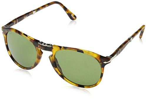 Persol Herren 0Po9714S 10524E 52 Sonnenbrille, Braun (Madreperla/Green),