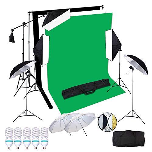 5x150W Portraint estudio fotográfico profesional