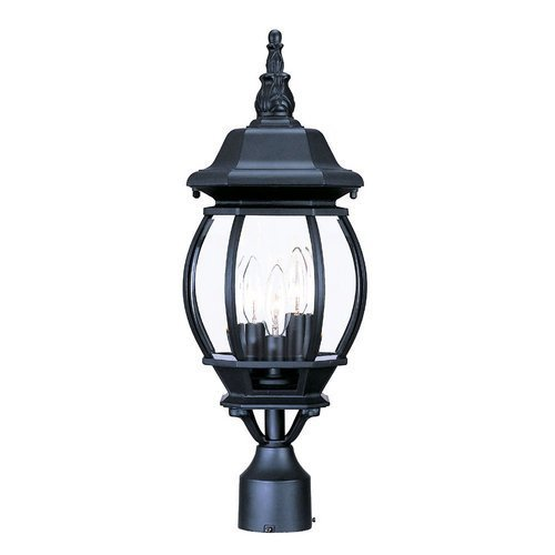 Acclaim 5171BK Chateau Collection 3-Light Post Mount Outdoor Light Fixture, Matte Black by Acclaim - Matte Black Outdoor Post