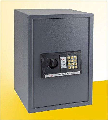 Tresor - 65 Liter Möbeltresor mit digitalem Zahlenschloss und Schlüssel anthrazit