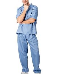 r-dessous Unisex Kostüm Krankenpfleger -schwester Doktor Arzt Chirurg OP-Kittel Karneval Fasching Halloween