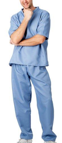 Horror Kostüm Doktor - spass42 Herren Kostüm OP Kleidung Arzt Anzug Krankenpfleger Doktor Spiele Chirurg Kittel Horror Halloween Groesse: XXL/XXXL