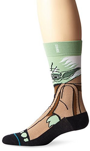 Official LucasFilm and Starwars Stance Socks~The Force Awakens-Yoda, Green, M