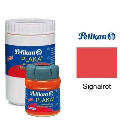 Pelikan Plaka-Farbe, 50 ml, Signalrot [Spielzeug]