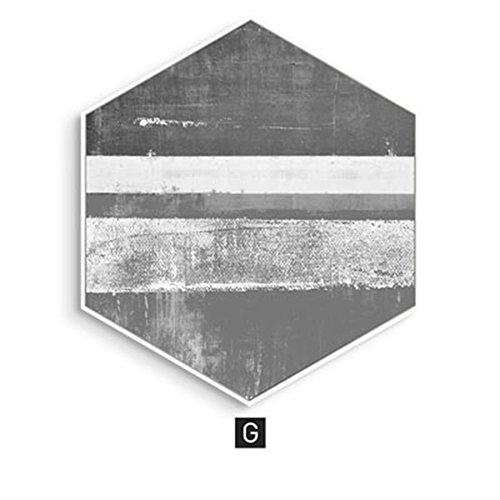 AINUO Decoration ainuo Deko Hänge Gemälde Bett Wohn/Esszimmer Traceless Nachttisch Abstraktes Individuelle Farbe Passende Sofa Hintergrund Wand, g, Large