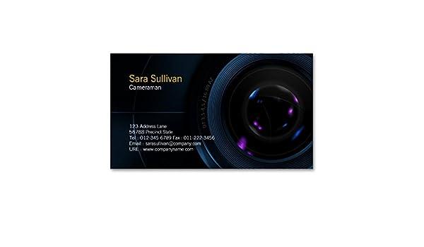 Objectif De Camera Carte Visite Cameraman Amazonfr Fournitures Bureau