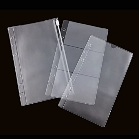 Zhi Jin 6 Holes A6 Clear Refills Binder Pocket Business