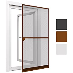 Sol Royal® SolProtect estupenda malla mosquitera para puerta - Marco de aluminio - 100x215 cm - Marrón