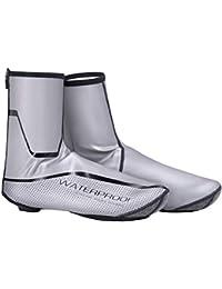 aaerp Wheel Up Mountain Road - Zapatos de Bloqueo para Bicicleta de montaña, Gruesos, Resistentes al Viento, Impermeables, cálidos, Silver Reflective XXL, XX-Large