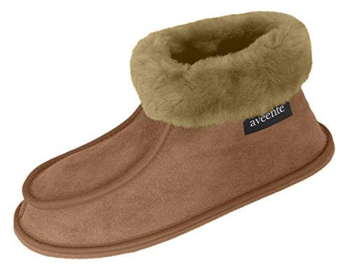 aveente , Chaussons pour homme Camel (Hard Sole)
