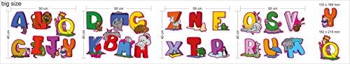 Pädagogische Wandaufkleber Tier Englische Alphabet Buchstaben - Entzückendes Set von 26 Buchstaben-Abziehbildern, zum der Wände im Kinderzimmer und der Kinderzimmer zu verzieren - attraktives und lustiges Lernwerkzeug für kreative junge Kinder … (Large) - Brief X Ballon
