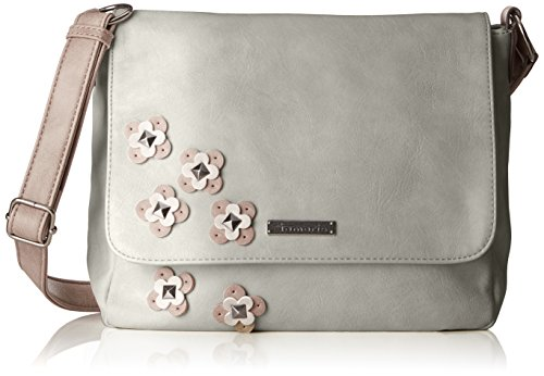Tamaris Damen Luna Crossbody Bag M Umhängetasche, Grau (Light Grey Comb), 10x25x28 cm -