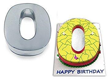 EUROTINS Große Zahl Zero Geburtstag Hochzeit Jahrestag Kuchen Dose-Kuchen, Pfannen
