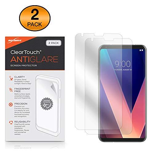 Boxwave Cleartouch Screen Protector (LG V30+ Displayschutzfolie, BoxWave ClearTouch AntiGlare (2er Pack) [Anti-Fingerprint Matt Folie Skin für LG V30+)