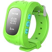 Q50 Smartwatches Reloj Infantil Pulsera Inteligente GPS / LBS Localizador Alarma para Seguridad de Niños - Verde