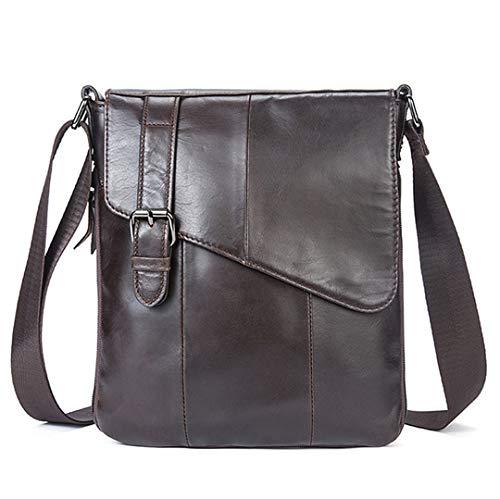 Männer Leder Messenger Bag Schultertasche aus echtem