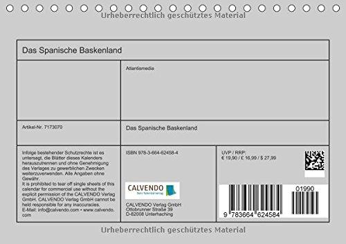 Das Spanische Baskenland (Tischkalender 2016 DIN A5 quer): Impressionen einer Region im Norden Spaniens (Monatskalender, 14 Seiten) (CALVENDO Orte): Alle Infos bei Amazon