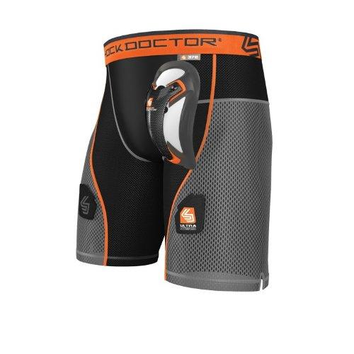 Shock Doctor Herren Hockey Ultra Hybrid Shorts mit Ultra Carbon Flex Cup, Herren, schwarz (American Herren Bekleidung Jock)