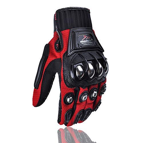 Accessori Moto,Guanti moto Full Finge,Guanti moto da corsa Guanti MTB da Ciclismo per Uomo e Donna,Guanti Caldi Termici Esterni rosso XXL
