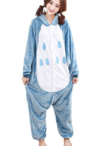HONFONF Eule Unisex Erwachsene Jumpsuit Onesies Anime Halloween Weihnachten Karneval Cosplay Kigurumi Outfit Kostüm Stück Anzüge (Molkerei Mädchen Kostüm)