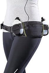 PEARL sports Laufgürtel: Trinkgürtel mit 2 Flaschen und Bauchtasche (Trinkflaschengürtel)