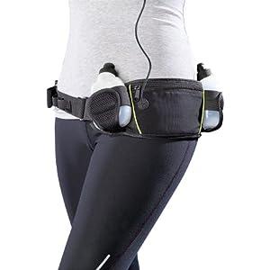 PEARL sports Laufgürtel: Trinkgürtel mit 2 Flaschen und Bauchtasche (Gürteltasche)