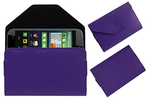 Acm Premium Pouch Case For Micromax Canvas Doodle 2 A240 Flip Flap Cover Holder Purple  available at amazon for Rs.179