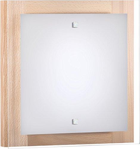 Wandleuchte Holz/Buche / 2x E27 bis 60 Watt 230V / Holz & Glas/Wandlampe Bauhaus/Wohnzimmer...