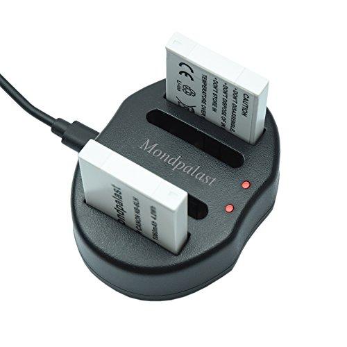 Mondpalast @ USB Doppio Caricabatteria per SONY Batteria Ricaricabile Li-ion