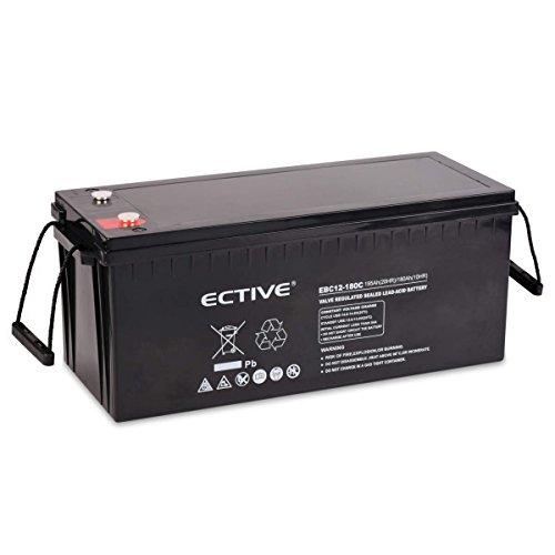 ECTIVE Bleiakku 12V 195Ah Zyklenfeste AGM Batterie Blei Akku EBC-Serie 13 Varianten: 25Ah - 280Ah (wartungsfrei)