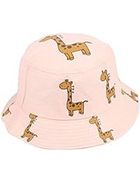 457dfd83 Cotton Cartoon Giraffe Bucket Hat Fisherman Hat Outdoor Travel Hat Sun Cap  Hats for Men and