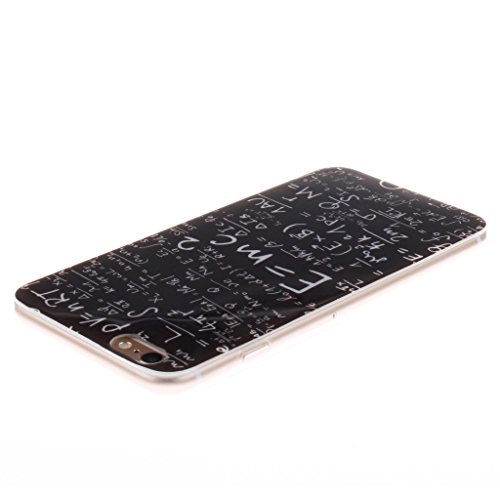 """SsHhUu iPhone 6 Plus Coque, Unique Letter Style Design Ultra Slim Doux TPU Flexible Durable Gel Silicone Protecteur Rear Skin Painting Art Étui Housse Case Cover Pour Apple iPhone 6s Plus 5.5""""; Lettres Formule"""