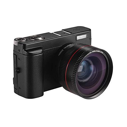 TPOTOO Appareil Photo numérique Portable Full HD 1080p 24MP DC avec écran de 3 Pouces Support de Prise de Vue Photo et vidéo Zoom numérique 16X Connexion WiFi Détection de Visage Détection de Visag
