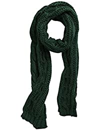 sourcingmap Women Winter Solid Color Cable Knitted Blanket Neck Wrap Long Scarf