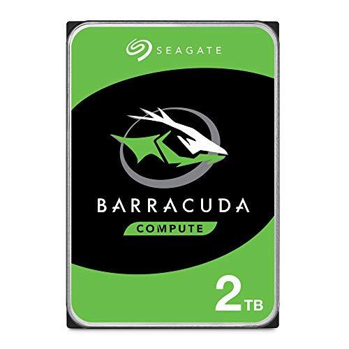 SeagateST2000DMZ08 BarraCuda 2 TB intern Festplatte (8,9 cm (3,5 Zoll), 7200 u/min, 256 MB Cache, SATA 6 Gb/s, silber, FFP (Frustfreie Verpackung))