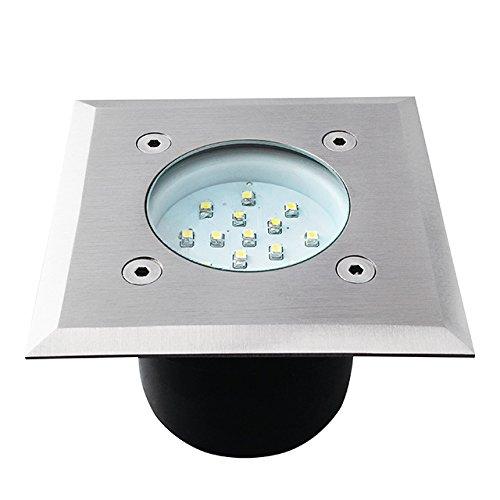 Kanlux Gordo DL-LED14L Spot LED à encastrer dans le sol Format carré Protection IP66