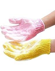 Haobase 4 Stück Badezimmer Zubehör Bathwater Scrubbing Bad Peeling Handschuhe Für Dusche