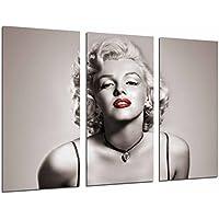Cuadro Moderno Fotografico Actriz Marilyn Monroe, Icono Sexual, Rubia, Mito erotico, 97 x 62 cm, Ref. 26616